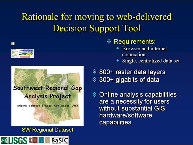 Online GAP Data Explorer Tool Architecture<br />